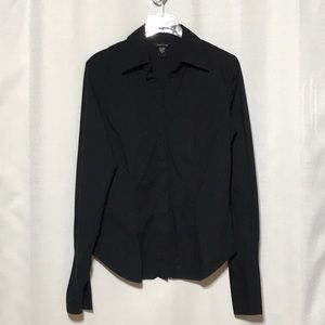 Cotton/Spandex Blouse, tailored, cuff sleeve